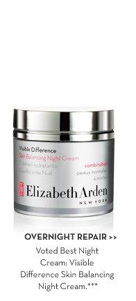 OVERNIGHT REPAIR. Voted Best Night Cream: Visible Difference Skin Balancing Night Cream.***