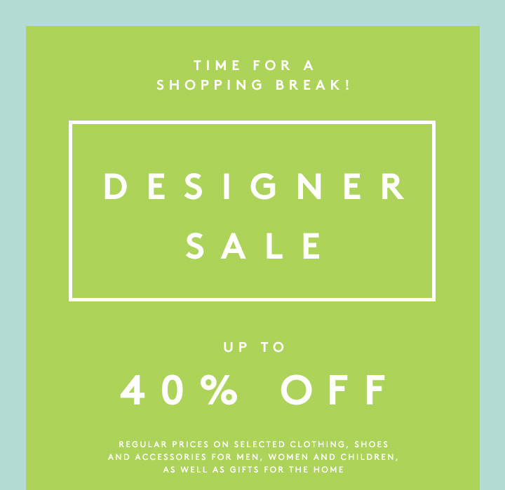 These steals are not to be missed. Shop the designer sale now!