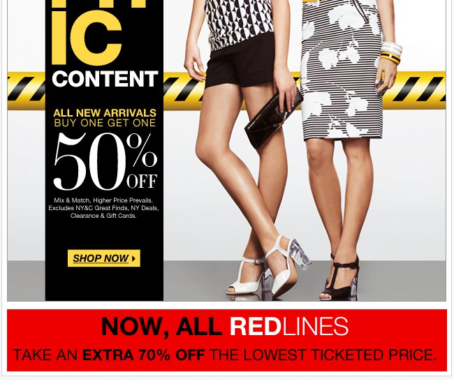 Unbelievable NY Deals + a coupon + new Redlines!