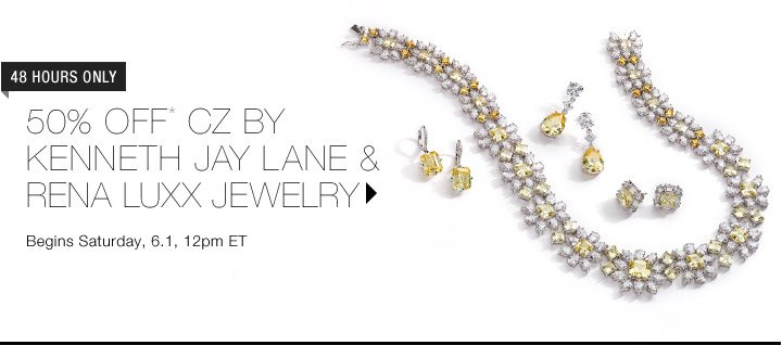 50% Off CZ by Kenneth Jay Lane & Rena Luxx...Shop Now