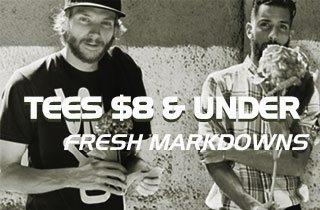 Tees $8 & Under