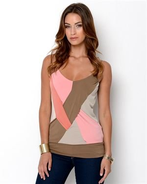 Beestango Colorblock Twist Blouse
