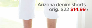 Arizona denim shorts orig. $22 $14.99 ›
