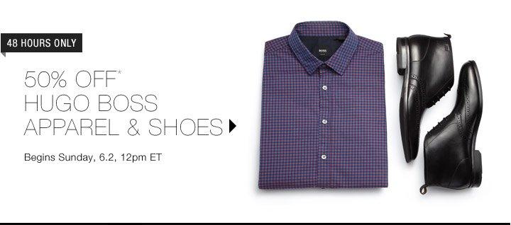 50% Off Hugo Boss Apparel & Shoes...Shop Now