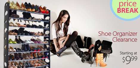 Shoe Organizer Clearance