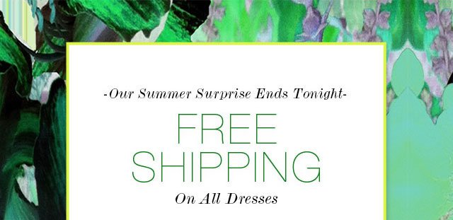 Our Summer Surprise Ends Tonight Free Shipping On All Dresses
