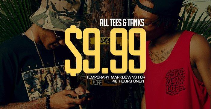 All Tees & Tanks 9.99