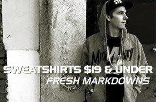 Sweatshirts $19 & Under