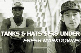 Tanks & Hats $15 & Under