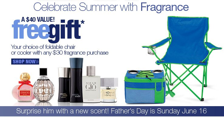 FREE GIFT with any $30 fragrance purchase.