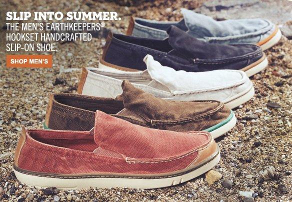 Slip Into Summer. The Men's Earthkeepers® Hookset Handcrafted Slip-On Shoe. Shop Men's