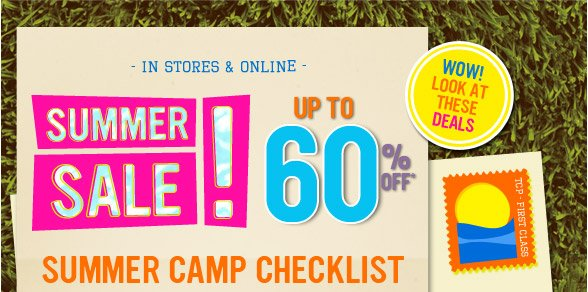 Up To 60% Off Summer Sale!