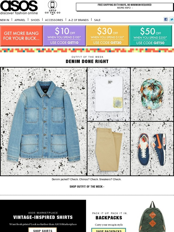 Asos watch your dollars stretch it 39 s like magic only for 6 dollar shirts coupon code free shipping