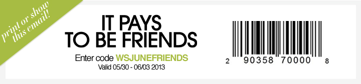 Additional 30% Off Entire Purchase With Friends and Family