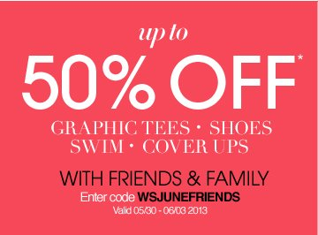 Up To 50% Off Select Items With Friends and Family