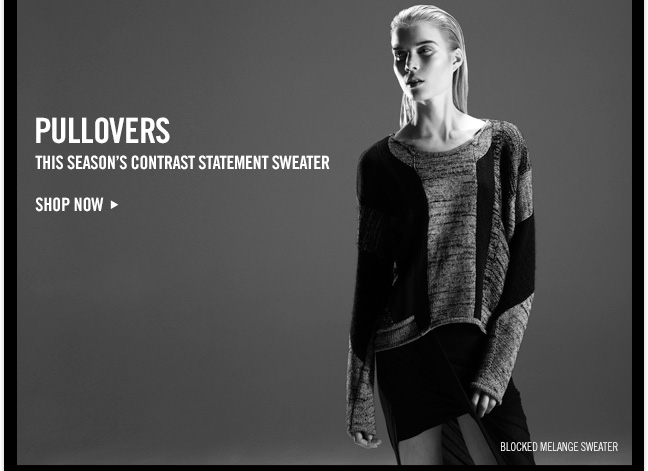 PULLOVERS - This season's contrast statement sweater - SHOP NOW