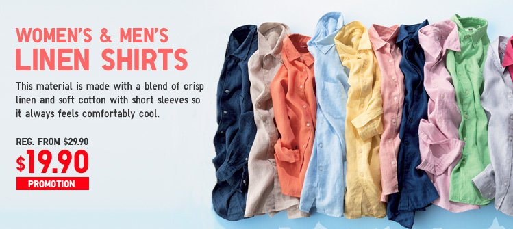 WOMEN'S AND MEN'S LINEN SHIRTS