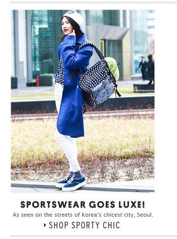 Sportswear goes luxe! - Shop Sporty Chic