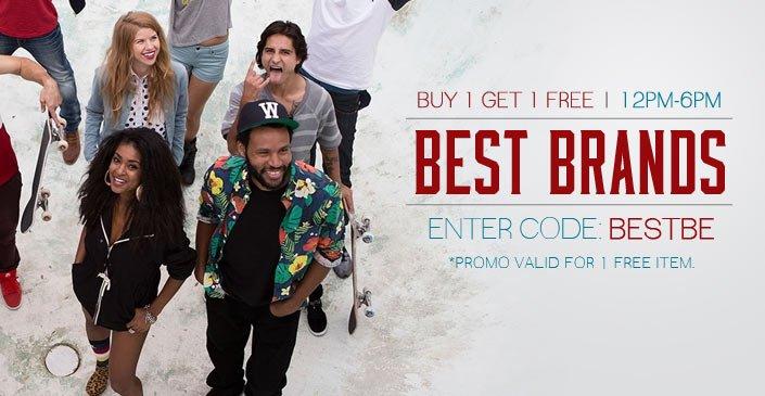 Best Brands: Buy 1, Get 1 Free
