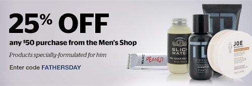 25% off Men's Shop