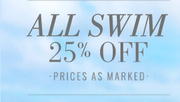 All Swim 25% Off | Prices As Marked