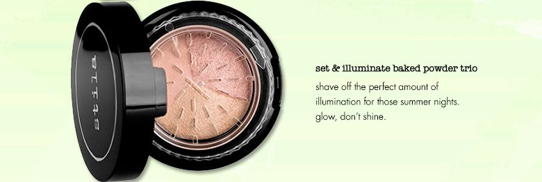set & illuminate baked powder trio
