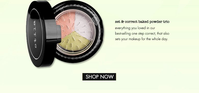 set & correct baked powder trio