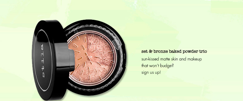 set & bronze baked powder trio