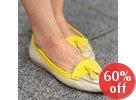 Tasseled Color-Block Loafers