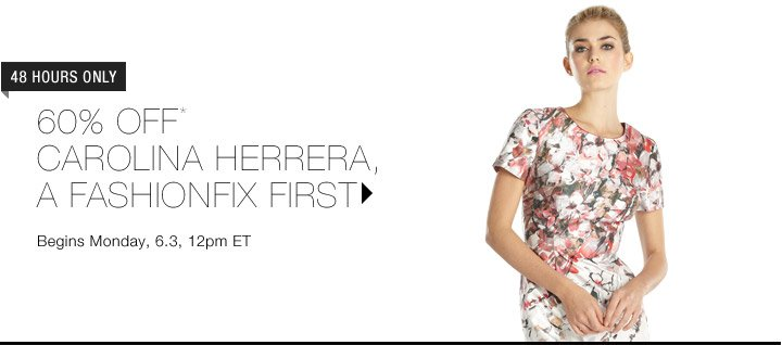 60% Off* Carolina Herrera...Shop Now