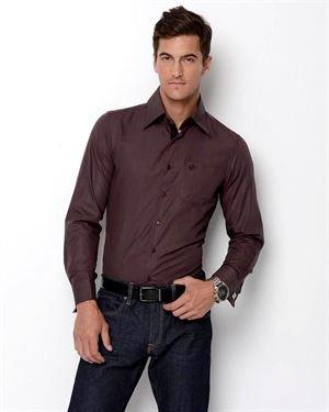 Amedeo Mini Check French Cuff Slim Fit Dress Shirt