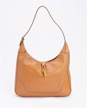 Hermes LU Vintage Genuine Leather Shoulder Bag