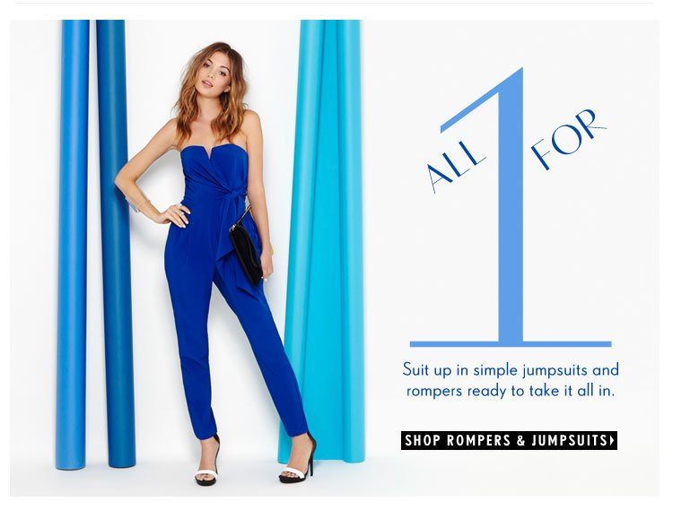 Suit up in simple jumpsuits and rompers ready to take it all in