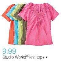 7.99 Studio Works® knit tops. Shop now.