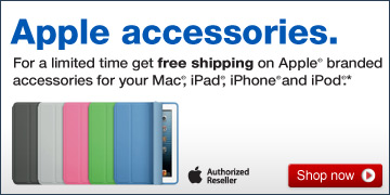 Apple  accessories. For a limited time get free shipping on Apple branded  accessories for your Mac, iPad, iPhone and iPod. Shop now.