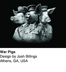 War Pigs - Design by Josh Billings / Athens, GA, USA