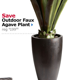 Save Outdoor Faux Agave Plant