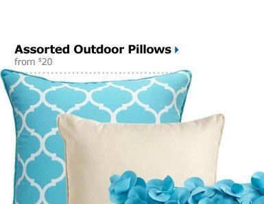 Assorted Outdoor Pillows