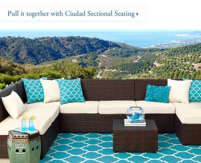 Pull it together with Ciudad Sectional Seating