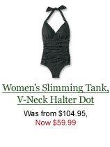 Women's Slimming Tank, V-Neck Halter Dot, $59.99.