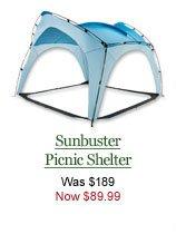 Sunbuster Picnic Shelter, $89.99.