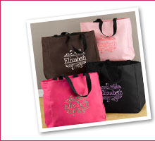 Personalized Baroque Tote Bags