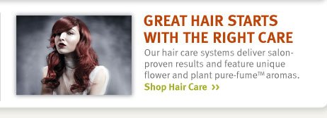 great hair starts with the  right care. shop hair care.