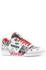 The Keith Haring Workout Plus R12 Sneaker in White, Black, & Techy Red