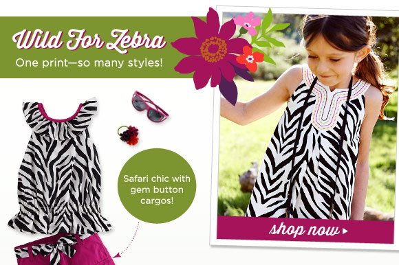 Wild For Zebra. One print - so many styles! Safari chic with gem button cargos! $15 Woven Shorts (2). Shop Now.