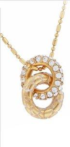 Pebble Pave Mini Ring Necklace