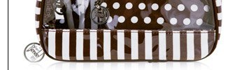 BROWN & WHITE COSMETIC CASE