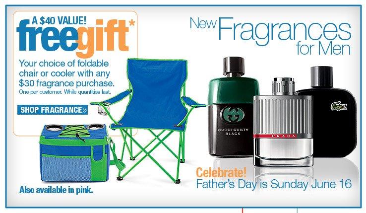 New Fragrances for Men PLUS FREE GIFT!