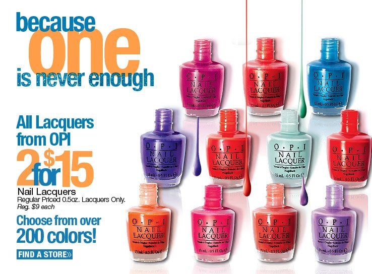 OPI Nail Lacquers 2 for $15