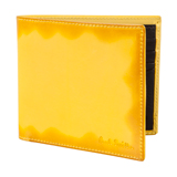 Yellow Burnished Leather Billfold Wallet